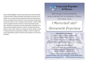 I Mercoledì dell'Università Popolare di Firenze