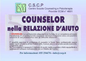 """Corsi: """"Counselor nella Relazione d'Aiuto"""""""
