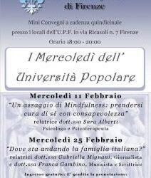 """Eventi: """"I Mercoledì dell'Università Popolare di Firenze"""""""